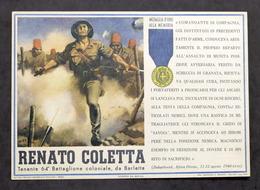 Militaria - Locandina Propaganda RSI - Medaglia D'Oro Renato Coletta - 1943 - Documenti