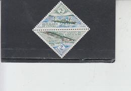 CONGO  1961 - Yvert  Taxe  38-39° - Servizi - Navi - Congo - Brazzaville