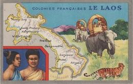 Litho AK Colonies Francaises Laos ປະເທດລາວ A Vientiane ວຽງຈັນ Cochinchine Annam Tonkin Vietnam Việt Nam Colonie Kolonie - Laos