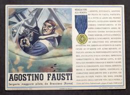 Militaria - Locandina Propaganda RSI - Medaglia D'Oro Agostino Fausti - 1943 - Documenti