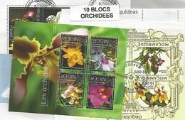 """Lot De 10 Blocs Thematique """" Orchidées """" - Orchidées"""