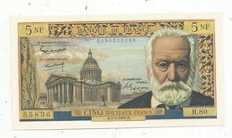 Billet , France ,5 NF ,cinq Nouveaux Francs , 1-3-1962 , Victor Hugo - 5 NF 1959-1965 ''Victor Hugo''