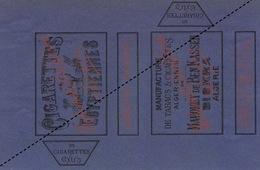 1893 Rare Papier étiquette De Paquet De Cigarettes Cigarette Egyptienne Benkassen Biskra - Cigarettes - Accessoires