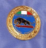 Distintivo Pendif Polizia Agente Tecniche Operative - Italian Police  Enameled K9 Insignia - Usato - Used Obsolete - Polizei