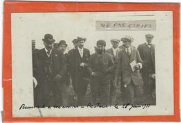 Roubaix : L'Aviateur BEAUMONT A Son Arrivée A Roubaix Le 28 Juin 1911... Document RARE (Carte-Photo)... - Aviateurs