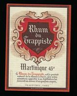 Ancienne Etiquette  Rhum  Du Trappiste Martinique 43°  Primistères Paris - Rhum