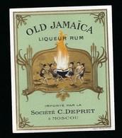 Ancienne Etiquette  Rhum  Old Jamaïca Rum  Société C Depret Moscou - Rhum