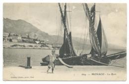 CPA MONACO, LE PORT, PETITE ANIMATION - Harbor