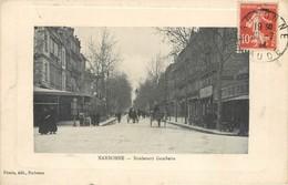 CPA 11 Aude Narbonne Boulevard Gambetta Circulée 1914 Attelage Bar - Narbonne