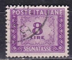 Repubblica Italiana, 1947/54 - 8 Lire Segnatasse, Fil. R1 - Pos. SB Nr.7 Usato° - 6. 1946-.. Repubblica
