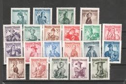 """Österreich 1958:: """"Volkstrachten"""" 1052/72 Postfrisch Papier Weiß - 1945-.... 2nd Republic"""