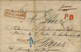 1859- Letter From KIEFF  To Paris ( France ) FRANCO + P.D. Red + AUSS RUSSLAND - Ucraina