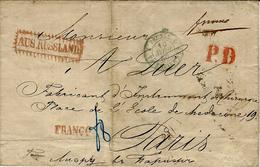 1859- Letter From KIEFF  To Paris ( France ) FRANCO + P.D. Red + AUSS RUSSLAND - Ukraine