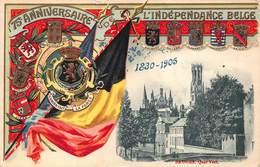 België  Gedenkenis Van Het 75e Verjaren Van De Belgische Onafhankelijkheid  Brugge Groenerei  1830-1905          I 5189 - Other Wars