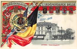 België  Gedenkenis Van Het 75e Verjaren Van De Belgische Onafhankelijkheid  Antwerpen Anvers   1830-1905          I 5191 - Andere Oorlogen