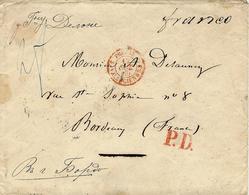 1860- Enveloppe From St Petersbourg To Bordeaux ( France ) P.D. +  Franco - 1857-1916 Empire