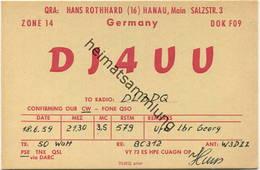 QSL - Funkkarte - DJ4UU - Hanau - 1959 - Radio Amatoriale