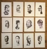 Lot De 12 Cartes Postales / CARICATURES / Eric ALARD - Célébrités