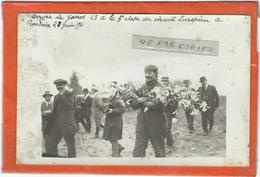 Roubaix : Arrivée De Garros, 2eme A La 5eme Etape Le 27 Juin 1911...... Document RARE (Carte-Photo)... - Aviateurs