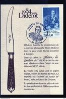 Carte Maximum - Journée Du Timbre 1984 -  N° 2304 - Thiers - 1980-89