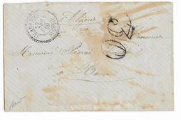 1869 - ALGERIE - LETTRE De EL ARROUCH Avec T22 + TAXE 30 => BONE - IND 16 - 1849-1876: Klassieke Periode