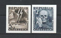 """Österreich 1946: """"Blitz-Totenmaske"""" Ungez., Nicht Verausgabt, Faksimile - 1945-.... 2ème République"""
