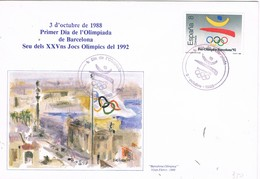 31103. Carta BARCELONA 1988. Olimpoiada Barcelona 92. Pre Olimpica - 1931-Hoy: 2ª República - ... Juan Carlos I