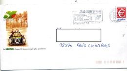Pap Euro Flamme La Mans 24 Heures 2000 Illustré Voiture Le Point - Enteros Postales