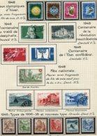 10661 SUISSE  Collection Vendue Par Page  °/ */**    1948  TB/TTB - Suisse