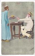 """CPA ILLUSTRATEUR E.B. NORTON """" L'Odorat' SIGNED EGYPT EGYPTE - Autres Illustrateurs"""