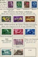 10662 SUISSE  Collection Vendue Par Page  °/*Pour La Jeunesse, U.P.U, Fête Nationale    1948-49  TB/TTB - Suisse