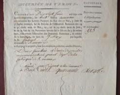 Révolution Française . Vente De Biens Nationaux . Municipalité De Rouvaux (Meuse). 2 Fauchées 1/2 De Prés à De Fournel . - Documents Historiques