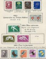 10664 SUISSE  Collection Vendue Par Page  °  Pour La Jeunesse Et Fête Nationale    1949-50  TB/TTB - Suisse