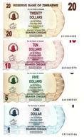 ZIMBABWE 1 5 10 20 DOLLARS 2006 P.37-40 UNC SET [ZW128a-131a] - Zimbabwe