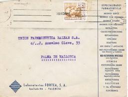 31106. Carta VALENCIA 1950. Laboratorios Fortea. ESpecialidades Farmacia - 1931-Hoy: 2ª República - ... Juan Carlos I