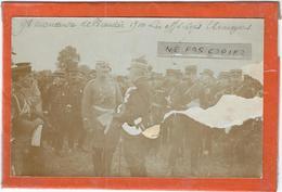 Granvilliers : Environs, Grandes Manoeuvres De Picardie, Les Officiers Etrangers... Carte- Photo D'Epoque... - Grandvilliers