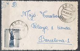31107. Frontal GRADO (Oviedo) 1956. Sta Maria Del Alcazar - 1931-Hoy: 2ª República - ... Juan Carlos I