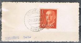 31107. Fragmento BRIVIESCA (Burgos)  1962. Caudillo 1 Pta - 1931-Hoy: 2ª República - ... Juan Carlos I