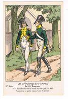 Uniforme 1er Empire.Le 19e Dragons.Sous Lieutenant .Capitaine . 1803. V.HUEN.  (5) - Uniformes