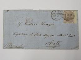 Inghilterra Busta Con Francobollo 1855-57  Effigie Della Regina Vittoria 6p. Violetto Catalogo Unificato Europa 2 N 19 - 1840-1901 (Regina Victoria)