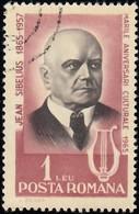 ROMANIA - Scott #1741 Jean Sibelius (*) / Used Stamp - 1948-.... Republics