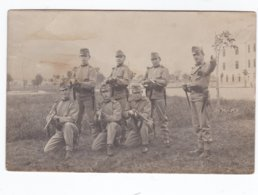 Postcard With Austrian-Hungarian Soldiers Lead By A Cpl Posted From Meran 18.11.1911 (Meran, Located In - Militaria