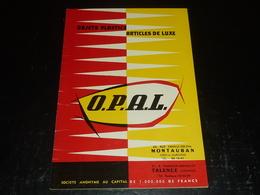 DEPLIANT PUBLICITAIRE - OBJETS PLASTICS ARTICLES DE LUXE - O.P.A.L.: MONTAUBAN / TALENCE  (AD) - Autres Collections