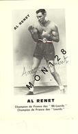 AL RENET - CHAMPION FRANCE MI LOURDS 1945-CHAMPION FRANCE LOURDS 1946 - Boxing