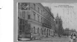 Chalon Sur Saône.L'Hotel De Ville Et L'Eglise St Pierre - Chalon Sur Saone