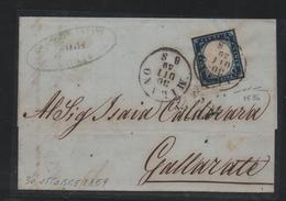 IV: 20 Cent (15Bb) Su Lett. Milano '59 (Gov.Provv. II Periodo) Fta Manzoni (€ 700) - Sardaigne