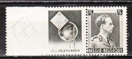 PU120**  Leopold III Col Ouvert - Telefunken - MNH** - COB 22 - Vendu à 13.50% Du COB!!!! - Werbung
