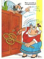 CARTOLINA HUMOR - NON SCENDO A COMPROMESSI - - Humor