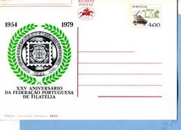 1979 25ème Anniversaire De La Fédération Portugaise De Philatélie - Ganzsachen