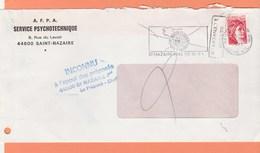CACHET INCONNU A L'APPEL DES PREPOSES 44600 St NAZAIRE Pal LE PREPOSE CHEF SUR LETTRE - Marcophilie (Lettres)